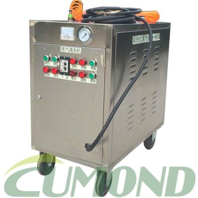 12KW电加热手推车蒸汽洗车机CW-D12A 配双蒸汽枪 单微水枪