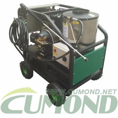 Diesel engine driven high pressure hot and cold water vapor cleaning machine / heavy oil washing machine / deicing machine